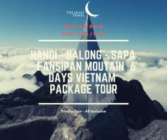 Hanoi - Halong - Sapa - Fansipan Mountain 6 Days Vietnam Package Tour / 河内-下龙湾-萨帕-番西邦山顶 六日之越南旅游配套