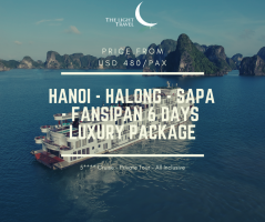 Hanoi - Halong - Sapa - Fansipan 6 days luxury package / 河内 -下龙湾 - 萨帕 - 番西邦 六天旅游 - 豪华配套